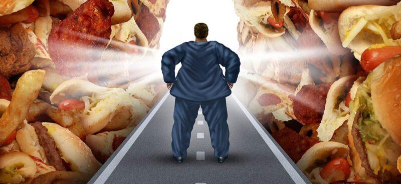 La mente è stressata dal cibo spazzatura